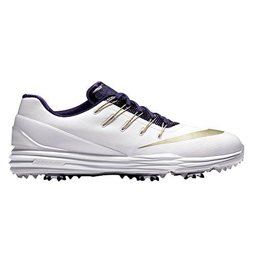 Nike Lunar Control 4 College Golf Shoes 2016 Bianco / Metallico Stella Doro / Nuova Orchidea
