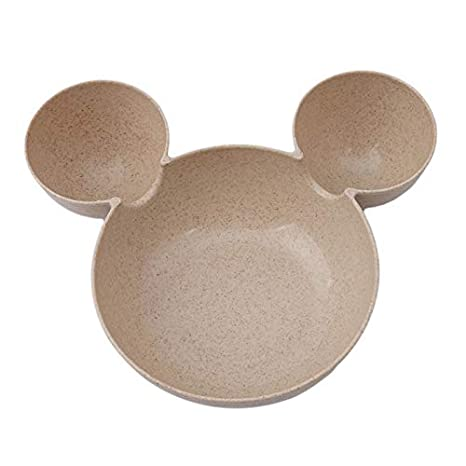 Kinderteller Color : Blue Weizenstroh Kinderteller Cartoon Mickey Mouse Kinderteller Geschirrteller Cute