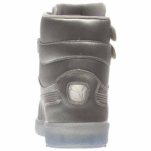 Puma Mens Sky II Hi Platinum Shoes (Puma Silver Grey Violet ... fa01998f8