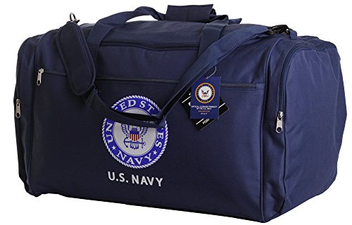 us-navy-official-licensed-blue-duffle-gym-luggage-bag