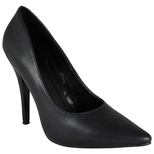 Loud Look , Damen Stöckelschuhe , schwarz - Schwarz (Black Pu) - Größe: 45 EU