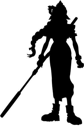 Video Game Final Fantasy 7 Aerith, White, 6 Inch, Die Cut Vinyl Decal, For Windows, Cars, Trucks, Toolbox, Laptops, Macbook-virtually Any Hard Smooth Surface (7 Sticker Windows)
