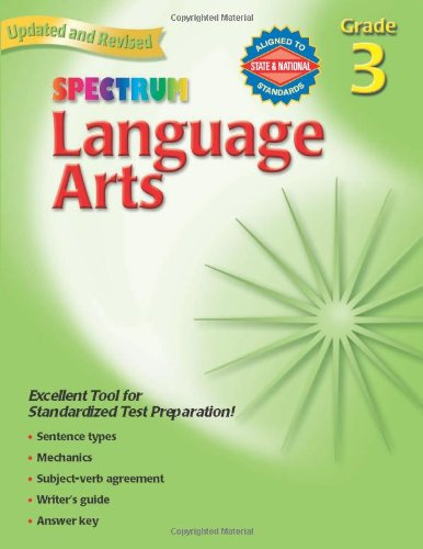 Amazon.com: Spectrum Language Arts, Grade 3 (0087577930039 ...