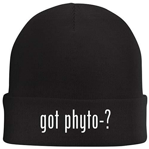 got Phyto-? - Beanie Skull Cap with Fleece Liner, Black ()
