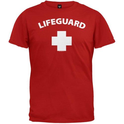 Old Glory Mens Lifeguard T-Shirt - Medium Red