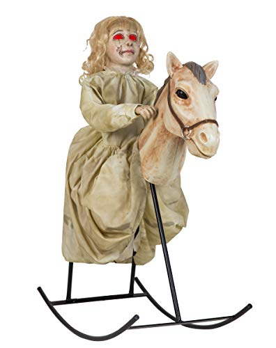 3 Ft Rocking Horse Dolly Animatronics - Decorations]()