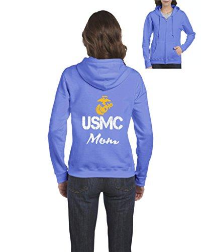 NIB USMC Mom Seal The Proud U.S. Marines Fight To Win Matching Couple w Dad Womens Sweaters Zip (Usmc Seal)