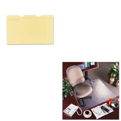 KITDEFCM15113UNV12113 - Value Kit - Deflect-o RollaMat Vinyl Chair Mat for Med Pile Carpet (DEFCM15113) and Universal File Folders (UNV12113)