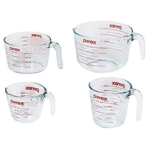 Pyrex 4-Piece Glass Measuring Cup Set ()