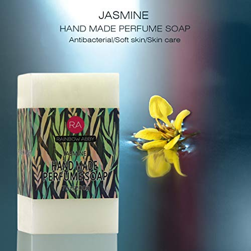 Jasmine Essential Oil Bar Soap Natural Oils Handmade Perfume Soap 7 Oz, for Men Women ()