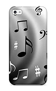 AmandaMichaelFazio Case Cover Protector Specially Made For Iphone 5c Music Pattern Silver Sign Abstract Pattern wangjiang maoyi