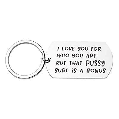 Couples Keychains Gifts, Funny Engraving Keyrings for Boyfriend Girlfriend-I Love You for Who You Are