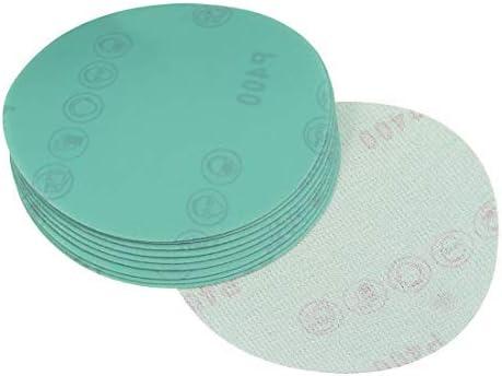 5-inch 400 inch grain film hook and loop sanding discs Wet/dry aluminum oxide 10 pieces