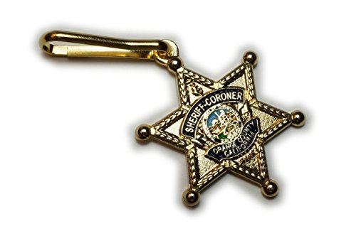 Mini Badge Pin (Sheriff Coroner Orange County CA Mini Law Enforcement Police Jacket Backpack Purse ZIPPER PULL CLIP)