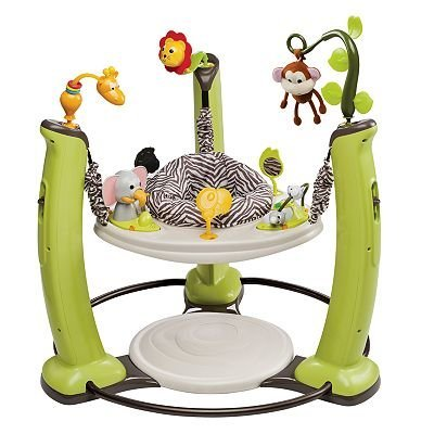 Evenflo ExerSaucer Jump and Learn Stationary Jumper Jungle Quest Developmental Toy baby gift idea by Evenflo ExerSaucer Jump and Learn Stationary Jumper Jungle Quest Developmental Toy baby gift idea (Image #1)