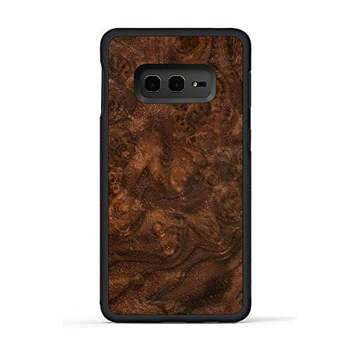 Carved | Galaxy S10e | Luxury Protective Traveler Case | Unique Real Wooden Phone Cover | Rubber Bumper | Walnut Burl