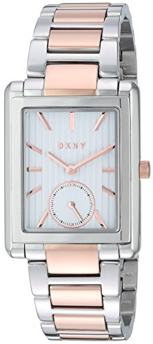 DKNY Women's NY2624 Gershwin Two Tone Rose Gold and Silver Watch