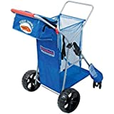 Tommy Bahama Wide Beach Cart with All Terrain Big Wheels for Sand, Heavy Duty up to 100 lbs (Blue)
