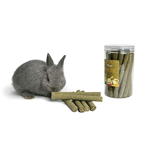 Niteangel Natural Timothy Hay Grass Chew Toy for Dentel Health, Pet Snacks Organic Molar Sticks for Bunny Rabbits Chinchilla Hamsters Guinea Pigs and Other Small Animals (Organic Sticks 25pcs)