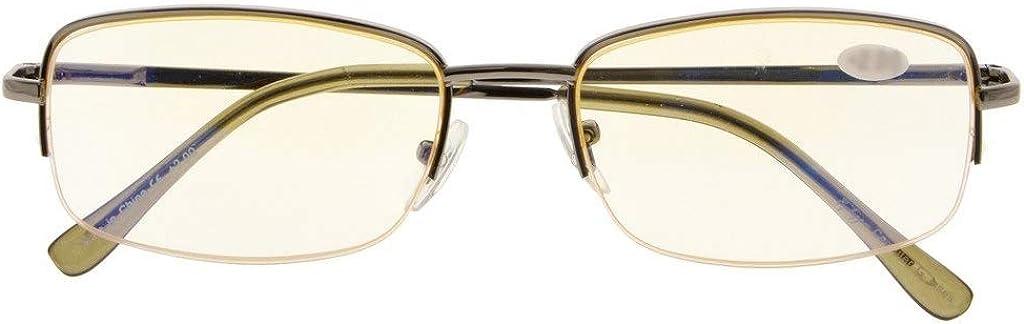 Half-rim Computer Eyeglasses for Women Men Reading Blue Light Filter Glasses