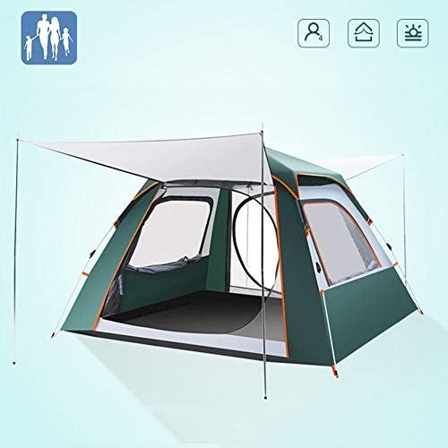 5〜8人の完全自動ポップアップテントポータブルキャンプテント設置が簡単な大家族のテント、家族での屋外ハイキングや登山に最適,Green