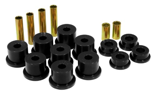 Prothane 6-1012-BL Black Front Spring Eye and Shackle Bushing Kit ()