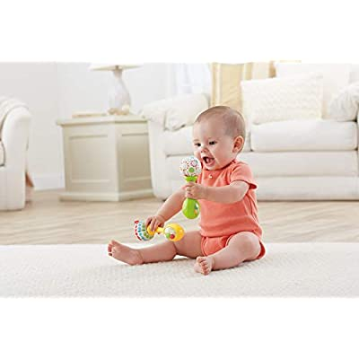 Fisher-Price Rattle 'n Rock Maracas, Green/Yellow : Baby Musical Toys : Baby