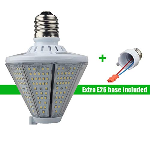 (LED Corn Light Bulb 50W, 5000K Cone Led Bulbs With Mogul E39 & Medium E26 Base, 6500 Lm Led Flood light (200W Metal Halide/HID Eq.), Post Top Wall Lantern High Bay Garage Warehouse Canopy Light Bulbs)