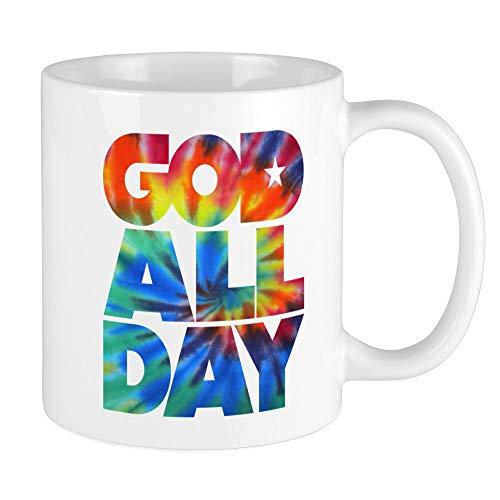 (CafePress GOD ALL DAY Tie Dye Mug Unique Coffee Mug, Coffee Cup)