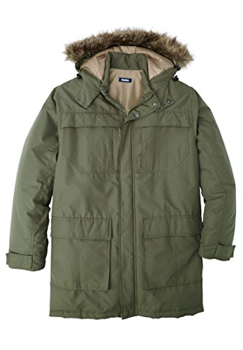 Tall Arctic Snorkel Parka, Olive Tall-XL (Big And Tall Parkas)