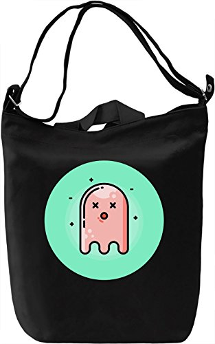 Cute Ghost Borsa Giornaliera Canvas Canvas Day Bag| 100% Premium Cotton Canvas| DTG Printing|