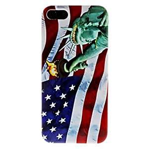 JJE Statue of Liberty and US National Flag Pattern Hard Case for iPhone 5/5S