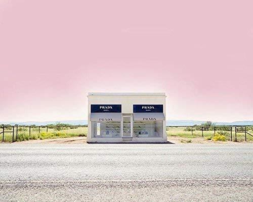 Prada Marfa pink decor Texas photography 8x10 inch print (Prada S)