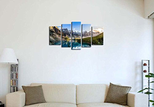 5-Pieces-Modern-Canvas-Painting-Wall-Art-The-Picture-For-Home-Decoration-Moraine-Lake-And-Mountain-Range-Sunset-Canadian-Rocky-Mountains-Landscape-Print-On-Canvas-Giclee-Artwork-For-Wall-Decor