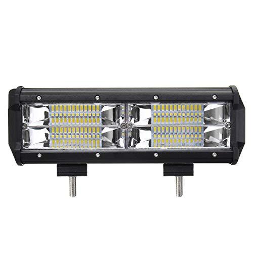 9Inch 144W 8D LED Work Light Bars Flood Spot Combo Beam DC 10-30V for Off Road Truck ()