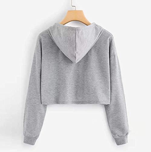 femmes Sweatshirt jaune Clearance taille Xluk Zhrui capuche couleur Gris 16 Appliques à pour Cn à Pull manches Clearance Tops Blouse longues I4qgwCq