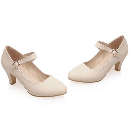 Chaussures Mary VulusValas Jane Talons Femmes Beige Fashion OqOXTfx4
