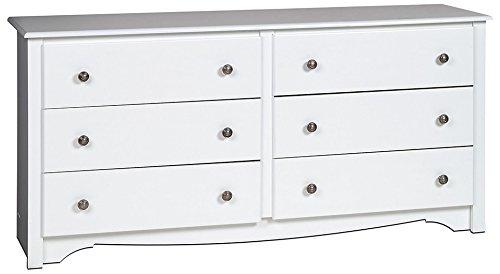 Amazon Com White Monterey 6 Drawer Dresser Kitchen Amp Dining