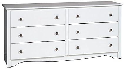 White Monterey 6 Drawer Dresser