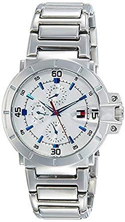 køb nu største rabat amazon Buy Tommy Hilfiger Analog Silver Dial Men's Watch ...
