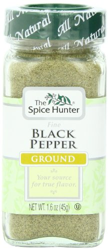 The Spice Hunter Pepper, Black, Fine, Ground, 1.6-Ounce Jar
