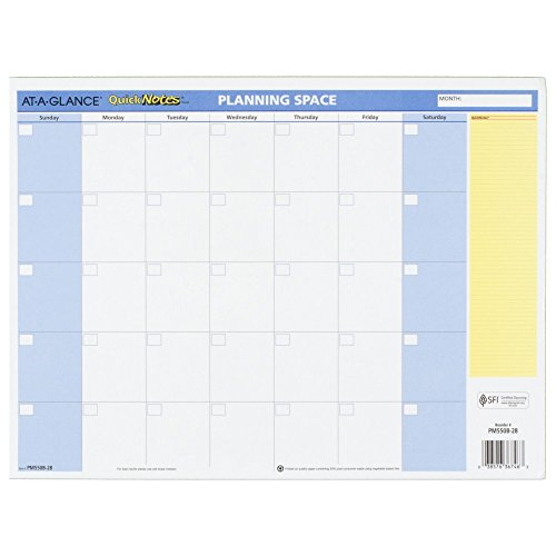 AT-A-GLANCE Monthly / Yearly Wall Calendar 2016, Erasable, Reversible, QuickNotes, 16 x 12 Inches (PM550B-28)