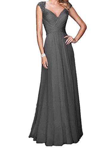 Spitze mia Abendkleider Lang Rock Braut Festlichkleider Linie Kurzarm Partykleider Anmutig Grau Ballkleider La A 1tqgdwWg
