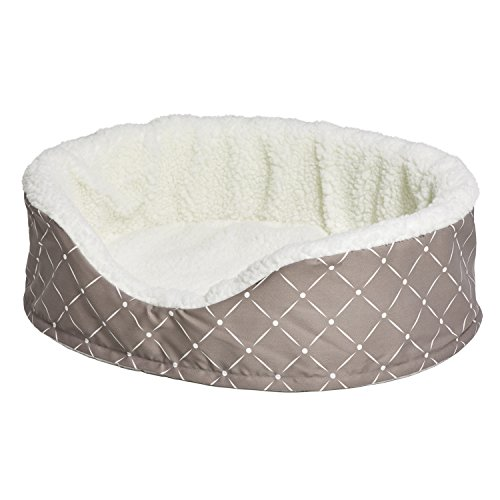 MidWest Homes for Pets CU29MRD Couture Orthopedic Cradle Pet Bed for Dogs & Cats, (Sheepskin Orthopedic Foam)