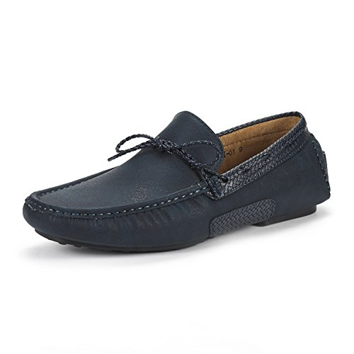 Bruno Marc Heren Santoni-01 Penny Loafers Mocassins Navy Schoenen