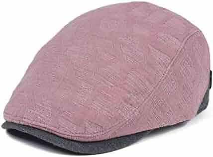 81a097e5 VOBOOM Men Denim Jeans Newsboy Beret Hat Duckbill Buckle Cabbie Cap