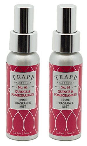 Trapp Home Fragrance Mist, No. 61 Quince & Pomegranate, 2.5-Ounce (2-Pack)
