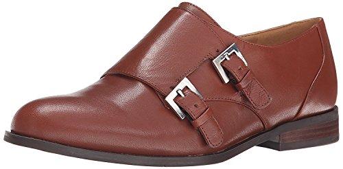 Leather Strap Flat B B 36 M Dark West UK M 4 Natural Women'S 5 EU Monk Toastie 5 Nine XtSwpa