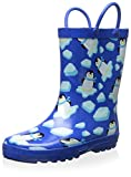 Lilly of New York Kid's Pequin Rainboot, Blue/White, 5 M US Toddler