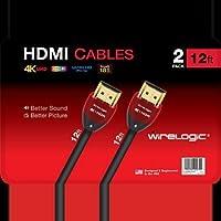WireLogic Ruby 12 HDMI Cable, 2 pk.